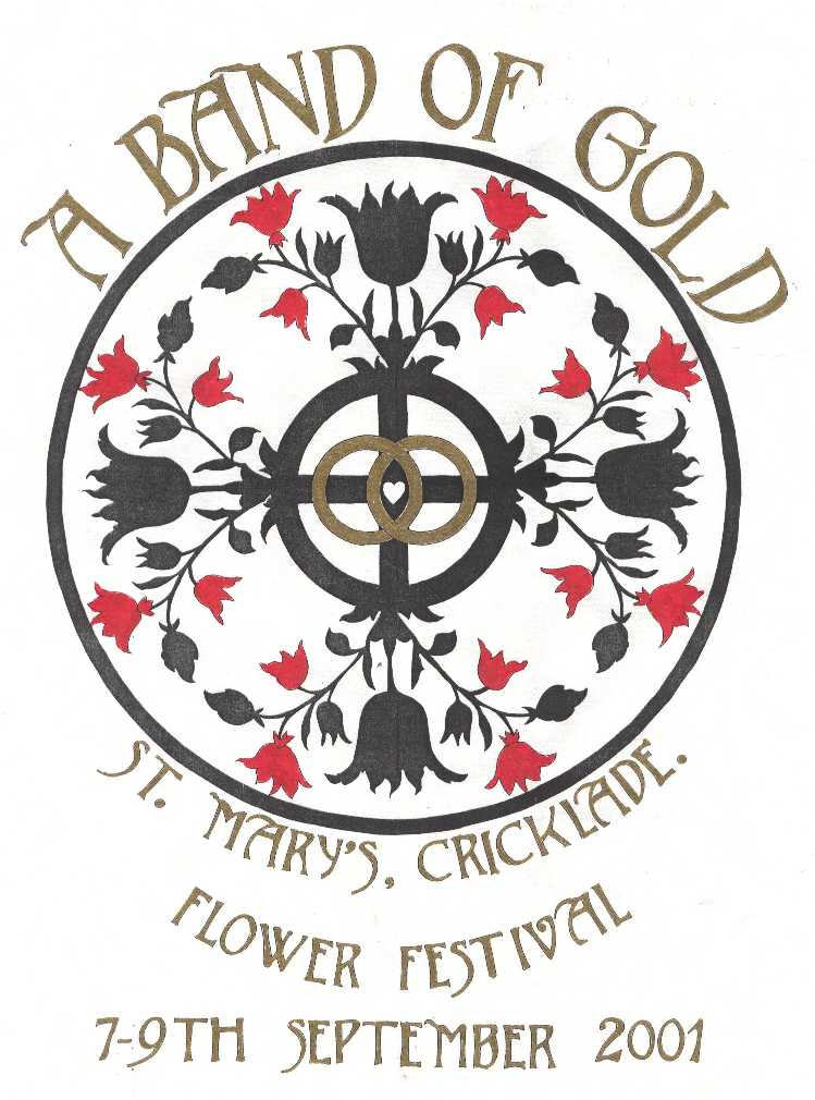 Band of Gold Poster used on the day of the Flower Festival